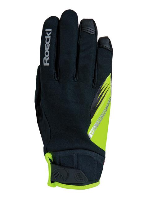 Roeckl Roden Handschuhe schwarz/gelb